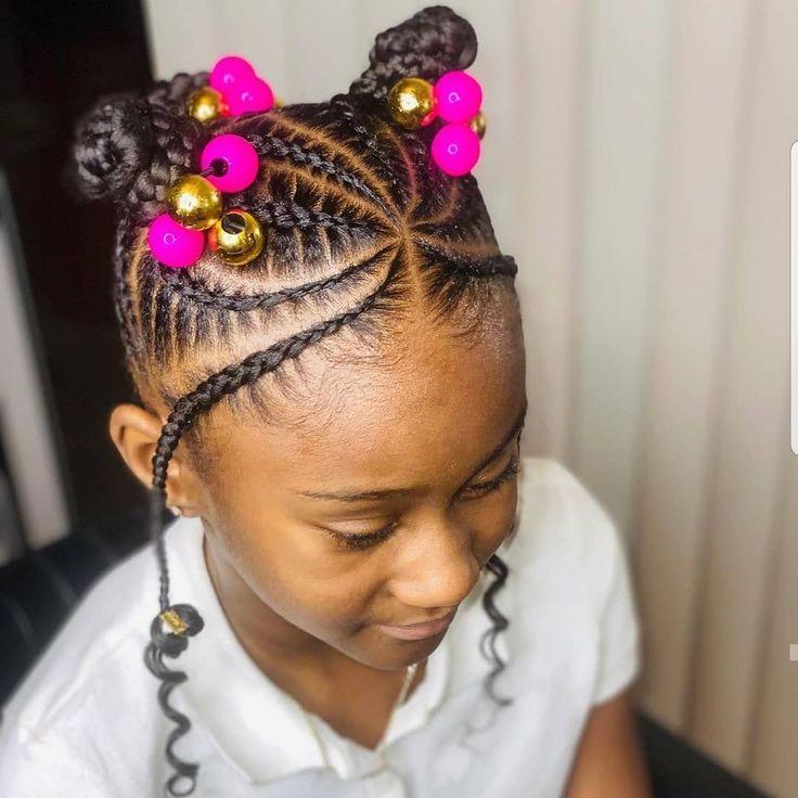 Kids Hairstyles Black Braids In 2020 Hair Styles Kids Hairstyles Kids Braided Hairstyles