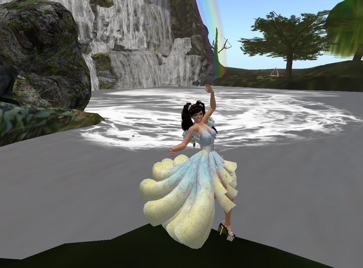 Love this dress I found for free and how it matches the rainbow.: Social Network, Second Life, Life Social