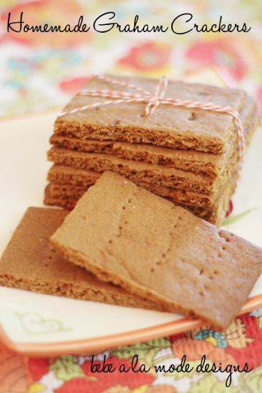 Homemade Graham Crackers. Realize last minute that you don't have any Graham Crackers for your camping trip? No problem. Just make them!