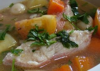 The soup recipe is delicious and scrumptious salmon Banget
