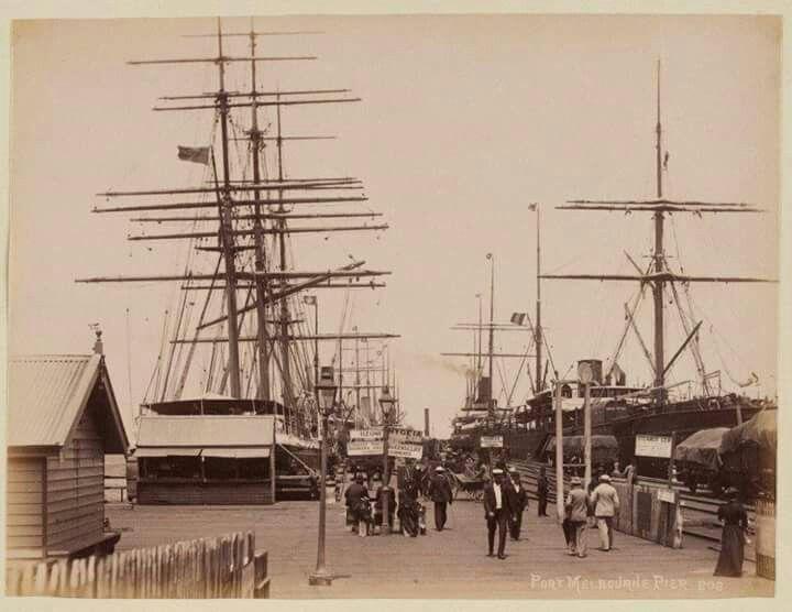 Port Melbourne Pier in 1880.A♥W