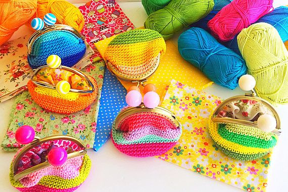 Colorful Crochet purses