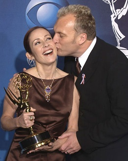 Patricia Heaton and her husband David Hunt - 53rd Annual Primetime Emmy Awards - 2001