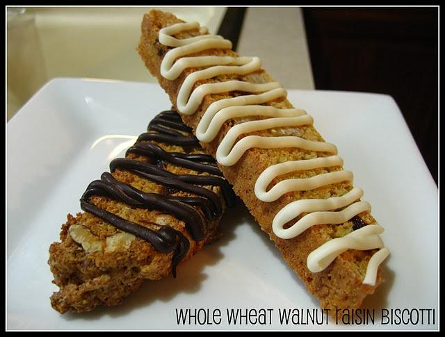 Whole Wheat Walnut Raisin Biscotti | Tasty treats | Pinterest