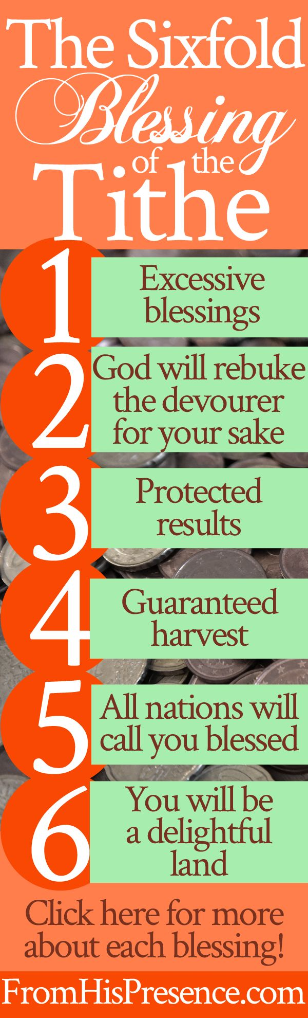 Sixfold blessing of the tithe | prayer | personal finance | giving | stewardship | money | breaking curses | God's blessing
