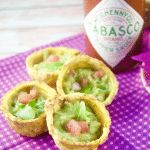 Give your parties a latin twist and enjoy crispy Plantain Cups filled with spicy guacamole. Perfect as finger food