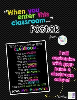 BRIGHT NEON COLORS & BLACK CHALKBOARD STYLE POSTER