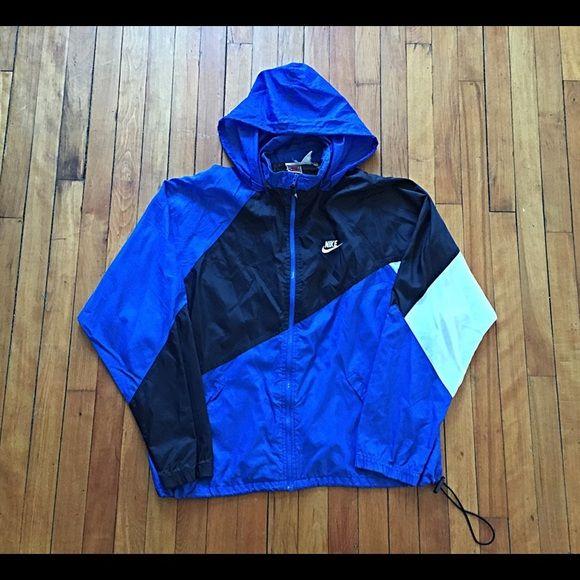 Vintage Nike Zip-Up Windbreaker Vintage Nike Zip-Up Windbreaker Hoodie With Fold Up Hood Mens L 9.5/10 Nike Jackets & Coats