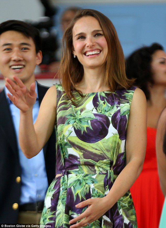 Hollywood to Harvard: Oscar-winning actress Natalie Portman, pictured giving the commencement speech at her Alma mater in May this year, earned an A.B. in Psychology from the prestigious Ivy League school