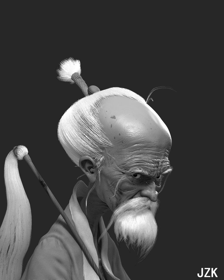 a old man , zhongkun Ji on ArtStation at https://www.artstation.com/artwork/KEdyX