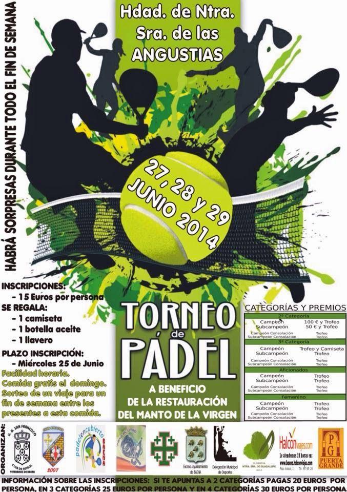 Padel en Cubierto Baena: Torneo Benéfico Hda. Ntra. Sra de las Angustias