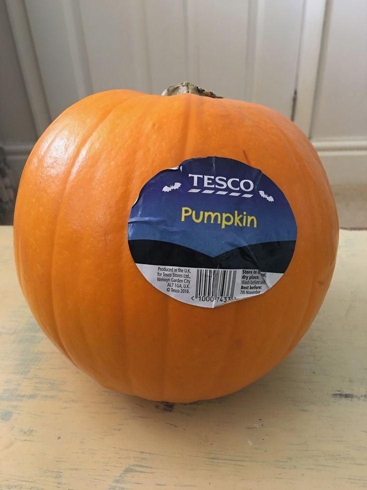 Tesco Pumpkin. Produced in the UK.