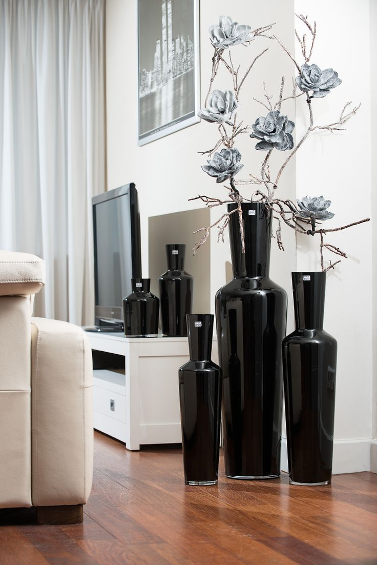 Vase Brody black