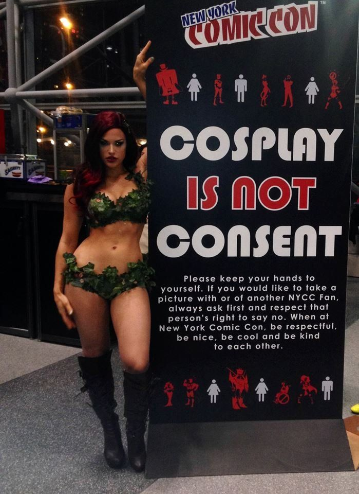 Poison Ivy -- Great example of how provocative cosplay isn't consent for harassment #geeksforCONsent