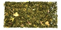 Bom Banana,Té Verde con trozos de plátano y pera, pétalos de caléndula y aroma. Mezcla dulce y refrescante con las propiedades antioxidantes del Té Verde y baja en teína. El plátano es rico en potasio, magnesio y ácido fólico y la pera es digestiva y depurativa. Juntos forman una combinación muy veraniega perfecta para hidratarnos. Vía Tea Shop http://e-teashop.com/es/granel-1/te-verde/bom-banana.html