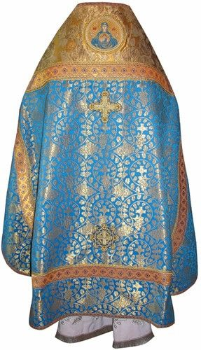 synod-supply.com   Priest's Vestments Full Set Blue and Gold – Synod Supply
