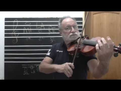 Clases de violín para principiantes (1)  Prof.  Joaquín Blasco Pagán. - YouTube