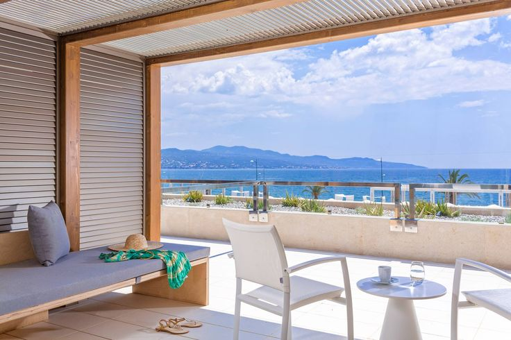 Overlooking Messinian Bay and Kalamata from a Sea View room at Horizon Blu