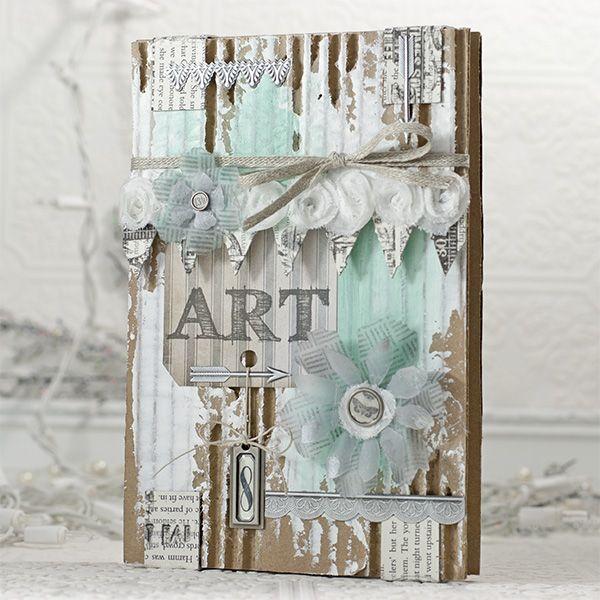 shari carroll - Art journal http://www.simonsaysstampblog.com/blog/altered-art-journal-cover/