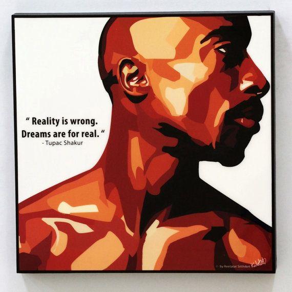 Tupac Shakur mur Art Stickers citations par WallArtDecalsQuotes