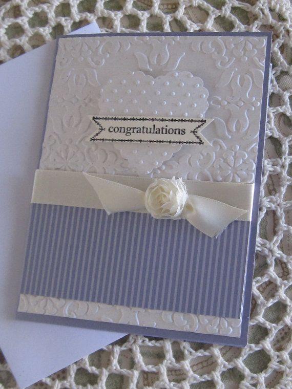 Stampin' Up Handmade Greeting Card Wedding by ConroysCorner, $4.00
