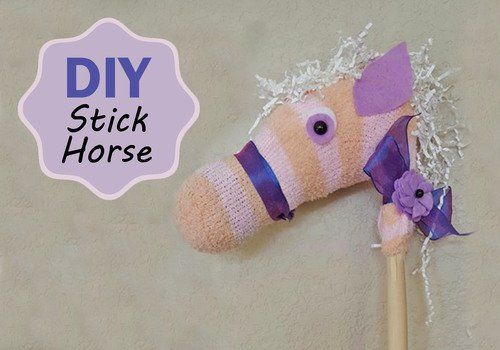 Check Out This Fun Diy Stick Horse It Looks So Cute And Easy To
