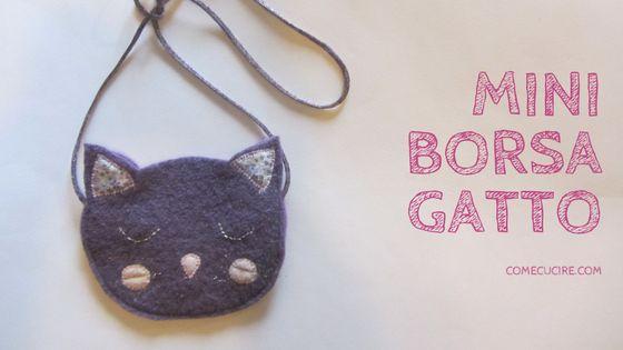 Se la vostra bambina è una patita di gatti come a mia ed è in grado di scovare gatti in ogni luogo vi propongo una piccola borsa con muso di gatto da portare sempre con lei. Questo è un lavoro molt…