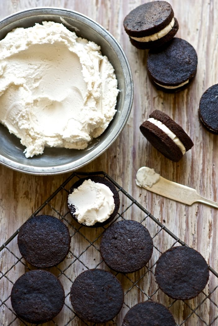 You know the smooth, dense white icing in store-bought sandwich cookies? This is a homemade version, perfect for filling our Chocolate Wafer Cookies.
