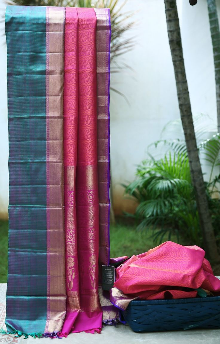 Anyone - Tam Wedding  Lakshmi Handwoven Kanjivaram Silk Sari 1000025 - Sari / All Saris - Parisera