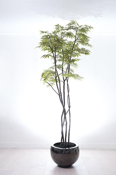Kunstboom gemaakt van echte onderstammen en kunstblad - b.art en blooms Ermelo
