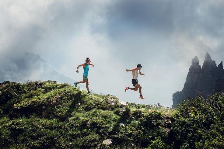 Emelie Forsberg and Kilian Jornet in Dolomites