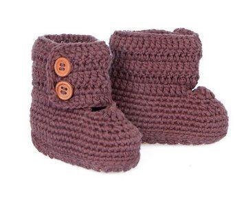 Pusat Sepatu Pria - Ekstra Comfy Tangan Crocheted Knitoes Bayi Boots untuk Bayi Melalui Balita (Brown) | Pusat Sepatu Bayi Terbesar dan Terlengkap Se indonesia