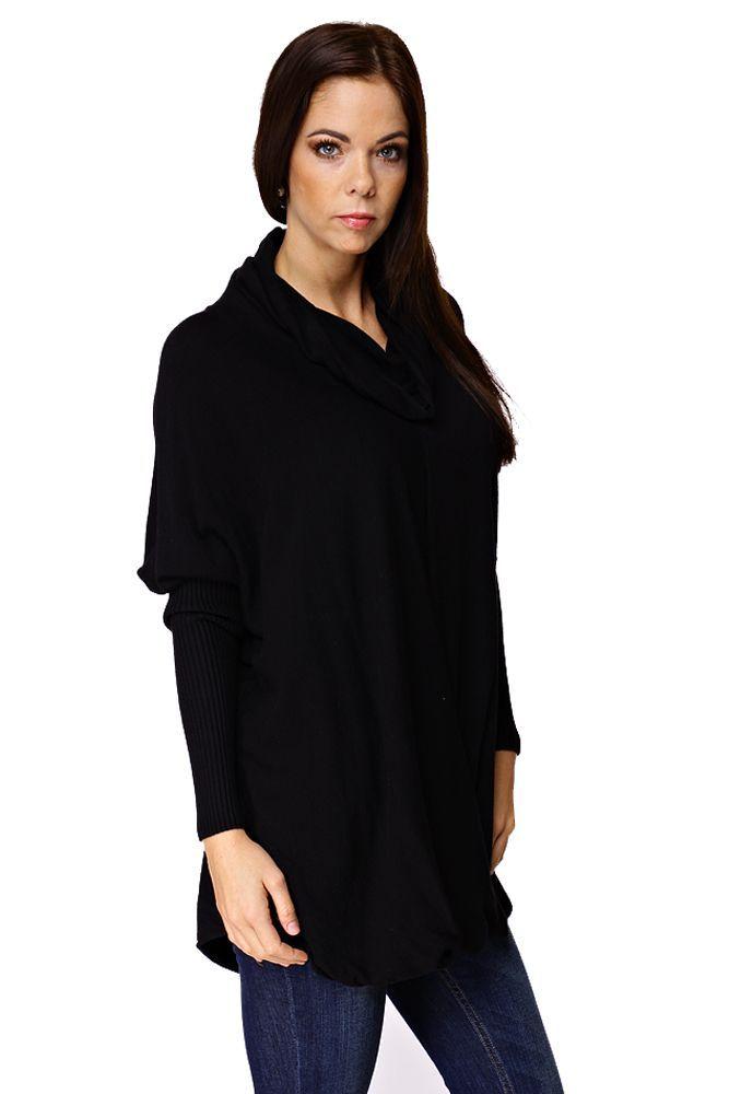 Solo Női kámzsa nyakú felső - 35% akció, outlet ((egy méret) fekete) | brands.hu 2015.11.08