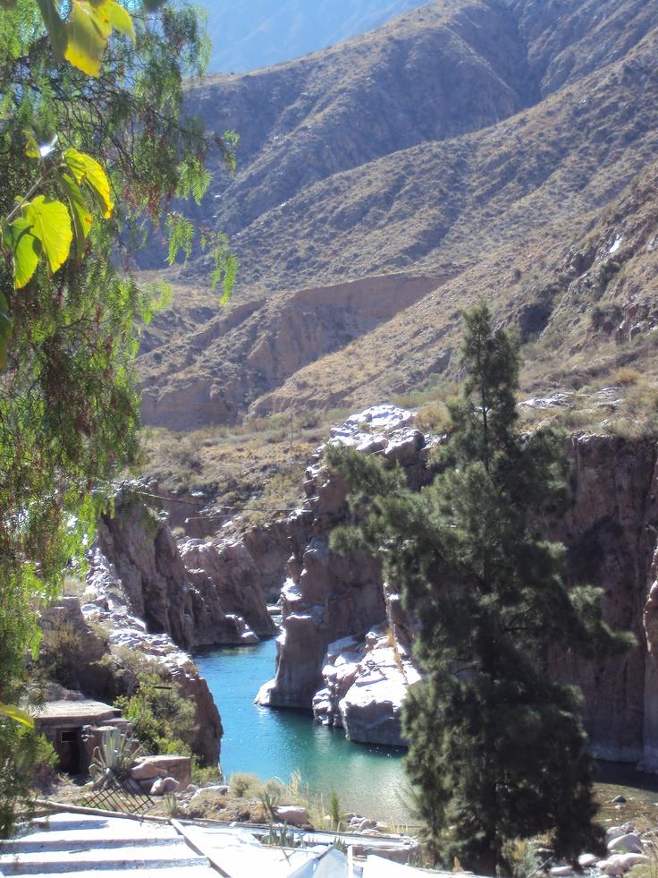 Cacheuta, y su zona termal en provincia de Mendoza, Argentina.