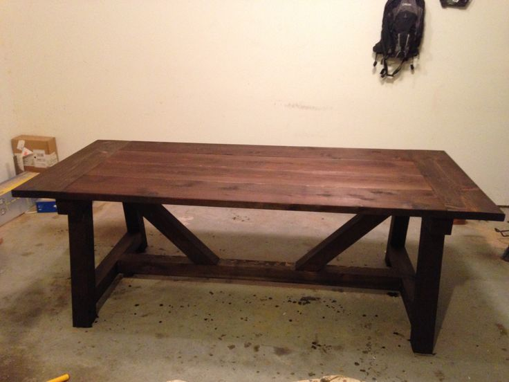 Ana White 4x4 Truss Beam Table With Minwax Jacobean Stain