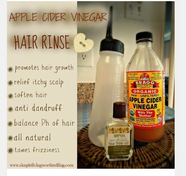 """DIY APPLE CIDER VINEGAR HAIR RINSE"""