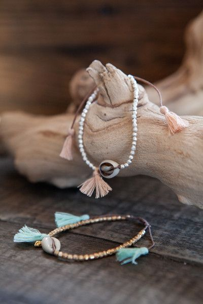 This cute bracelet has beachy vibes and simple details that make it an essential…