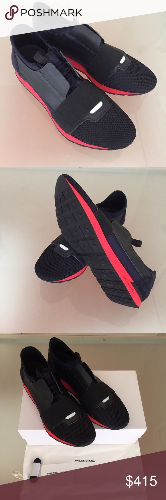 NWOT Balenciaga Sneakers Race Runner Shoes Red 44 NWOT Balenciaga Sneakers Race Runner Shoes Red 44 100% Authentic Guaranteed. Never Worn. Comes with Original Boxing and dustbag, minor wear on box  I'll give an extra $25 off If paying by ️️ Balenciaga Shoes Sneakers