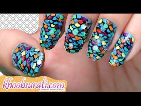 Fishscale Nail Art Design