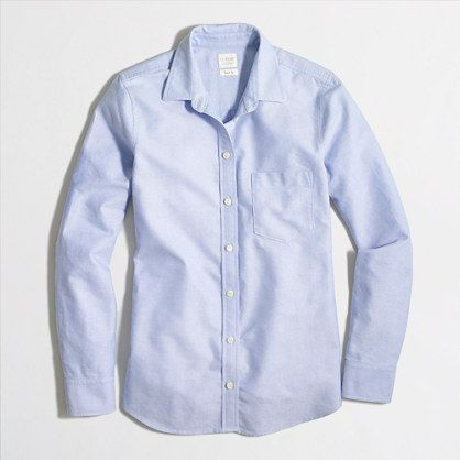 J.Crew+Factory+-+Oxford+shirt+in+perfect+fit - Size Small