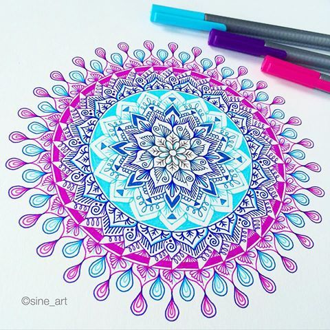 Don't forget to enter our Mandala Art Contest ! Prize: 140K Shoutouts ⭐️ Look through my latest posts ! The host: @josilix @art.melody @sine_art ✨ We look forward to see your artwork   _ I've used Triplus Fineliners from Staedtler
