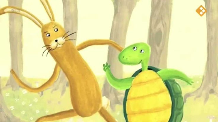 Wie is er sneller jij of ik? Vroeg de schildpad aan de haas De haas begon te lachen… Dan ben ik jou de baas Lied over schildpad en haas De schildpad telde 1,2, 3 En de haas ging er vandoor De schildpad liep heel langzaam De haas lag meters voor