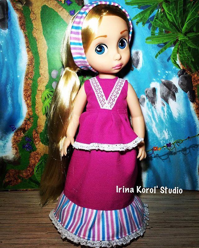My wonderful babydoll #ooak #рапунцель #handmade #dolldress #dressdoll #disneyanimatorscollection #repaintdoll #rapunzel #rapunzelrepaint #animatorsrepaint