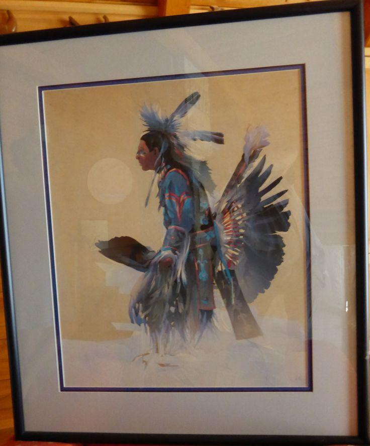 """""""Native Dancer"""" Blue Collage- SOLD"""