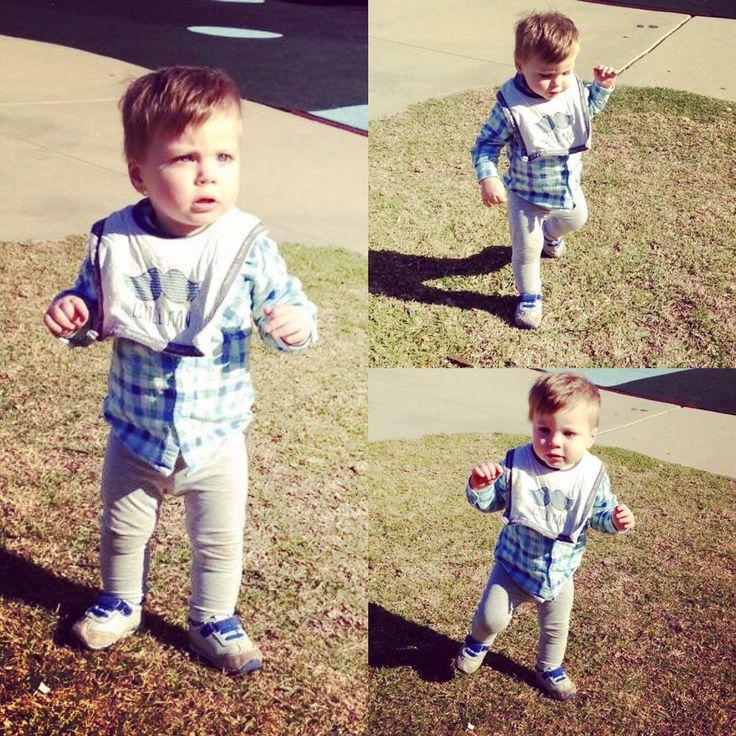 My little man, taking big steps!