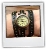 #vintage #horloge, mooi sieraad voor om je pols. In diverse kleuren! Verkrijgbaar voor maar 12,95 bij stiksels.com