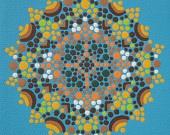 JOY, JOY's Mandala: Large Prints, Etsy, Joy Mandala, Prints 25 00, Art Prints, Prints 2500, Blue Mandala, Beaches Blue, Mandala Art