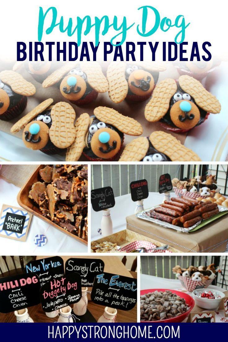 Diy Puppy Dog Birthday Party Ideas Dog Birthday Party Dog Themed Birthday Party Puppy Birthday Parties