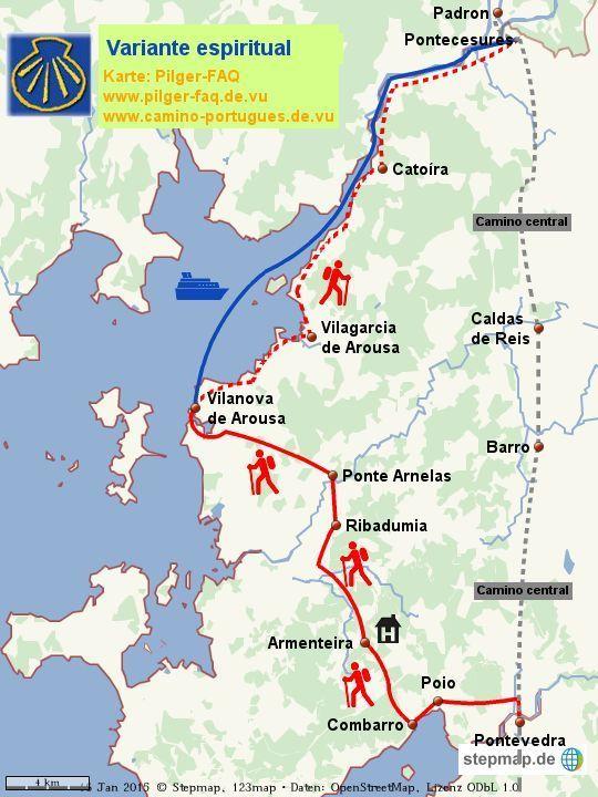 Camino Portugues Karte.The Pilgrims Gaze Camino Portugues Variante Espiritual Camino In