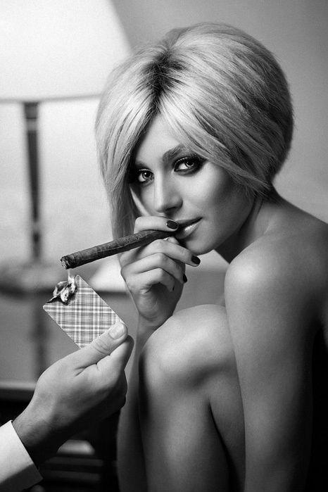 sexy women smoking cigars